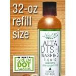 NaturOli Alta Soap Berry Liquid Dish Washing Concentrate, 32 oz, REFILL BOTTLE